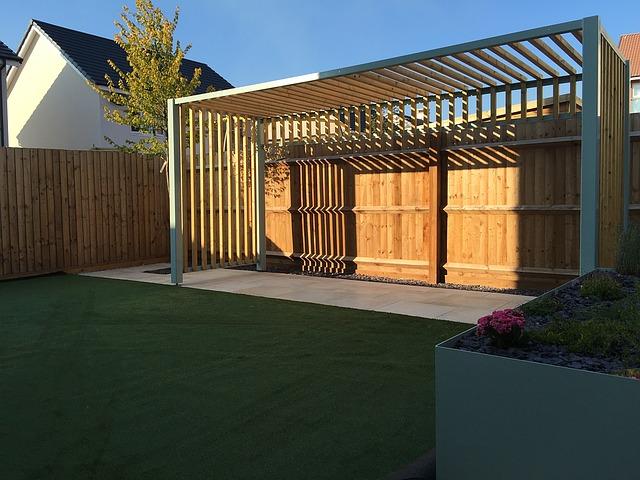 dřevěná konstrukce, zahrada