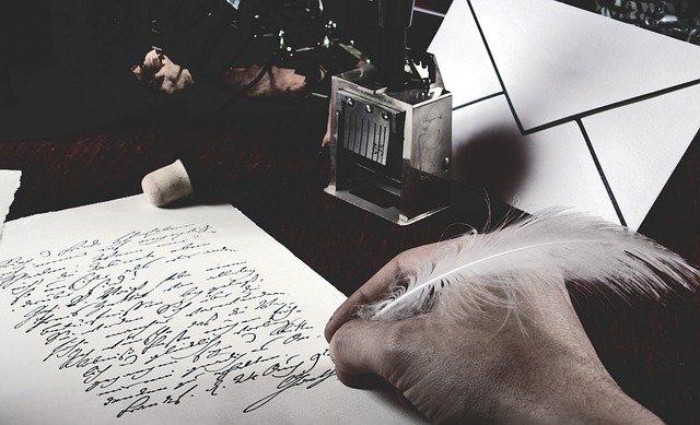 psaní pérem