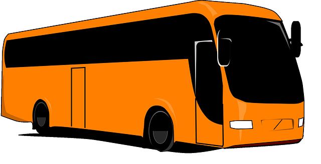 oranžový autobus