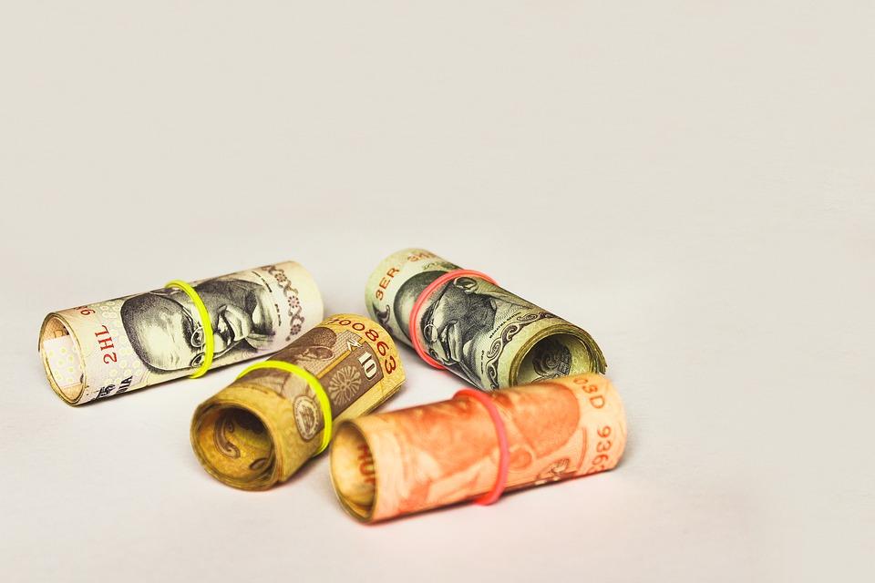 roličky bankovek
